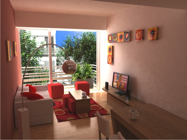 Dise o de interiores salas de estudio for Estudio de decoracion de interiores